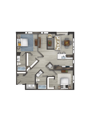 Momentum at Shady Grove 2 Bedroom Floor Plan